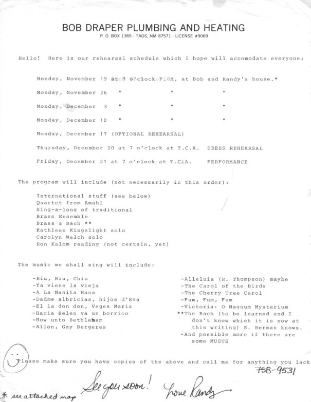 1984-fall-rehearsal-schedule