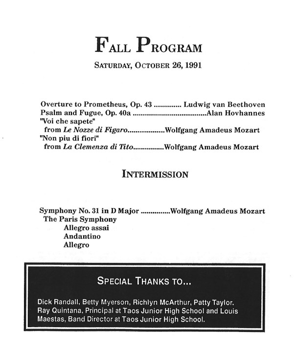 1991-oct-orchestra-program